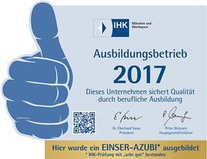Wir bilden aus - IHK-Ausbildungsbetrieb Karl Dahm