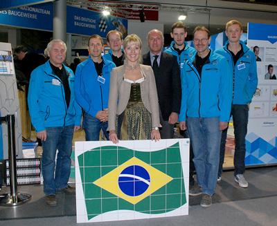 BAU 2015 - Fliesenlegerteam Deutschland für die WorldSkills 2015 in Brasilien