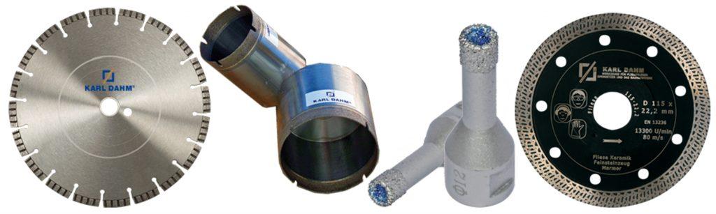 Diamantwerkzeuge für den Trocken- und Nassschnitt in bester Qualität von Karl Dahm