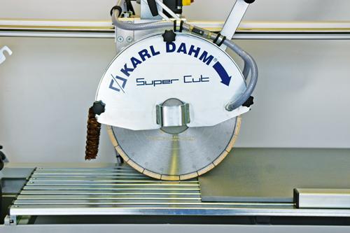 Diamanttrennscheiben für den Nassschnitt mit Karl Dahm Steintrennmaschinen