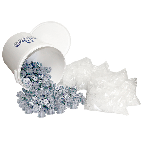 Fliesen-Nivelliersystem Maxi-Set grau: 150 Zughauben grau, 1500 Gewindelaschen Basis