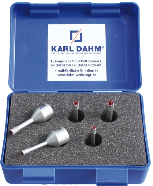 Löcher bohren mit Diamant-Trockenbohrkronen mit Paraffinkern – KARL DAHM