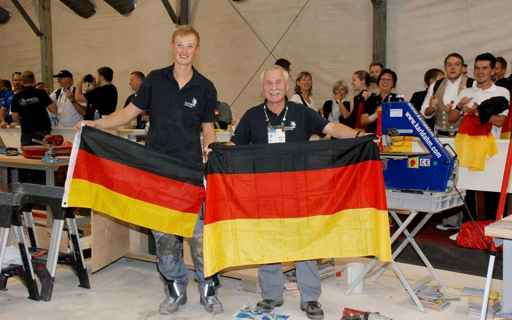 Karl Dahm Werkzeuge bei den WorldSkills 2015 mit Tim Welberg und Günther Kropf