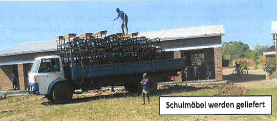 Dank der großzügigen Spenden konnten die Schulgebäude komplett eingerichtet werden