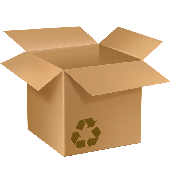 Nachhaltigkeit - Recycelter Karton