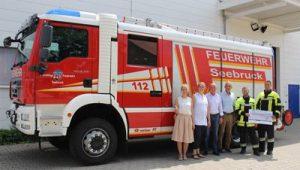 Spende an Freiwillige Feuerwehr Seebruck
