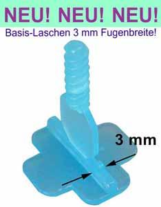 Basis-Gewindelaschen für 3 mm Fugen - KARL DAHM Nivelliersystem
