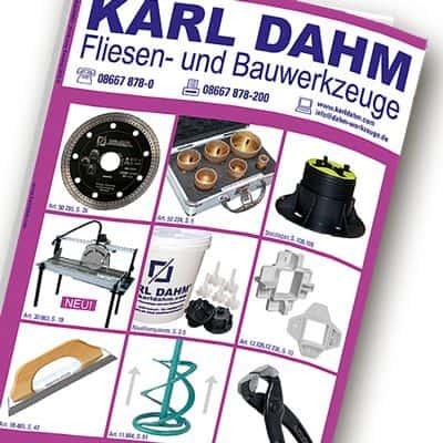 Werkzeugkatalog für Fliesenleger von KARL DAHM