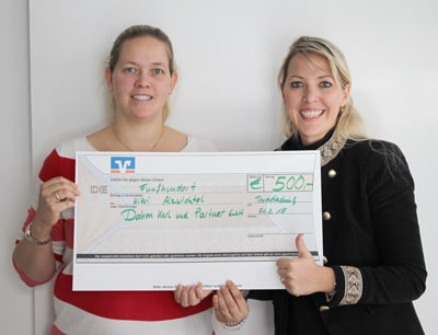 Spendenübergabe Kinderkrippe Alzwichtel - Firma KARL DAHM spendet 500 €