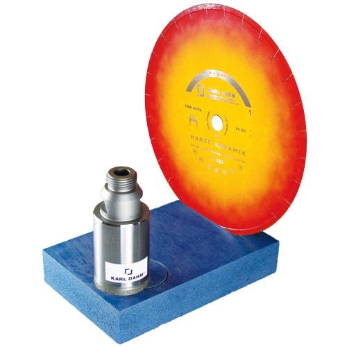 Diamant-Schärfstein zum Schleifen von Diamantwerkzeugen wie Trennscheiben und Bohrkronen mit Diamantbesatz. Nur trocken Schleifen. KARL DHM