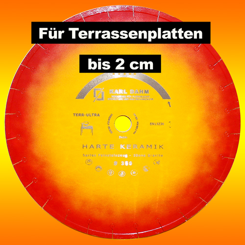 Terrassenplatten 2 cm schneiden – Diamanttrennscheibe TerrUltra