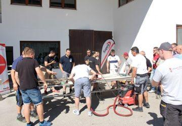 Großformat-Workshop der Firma Sopro, Akemi und KARL DAHM am Chiemsee