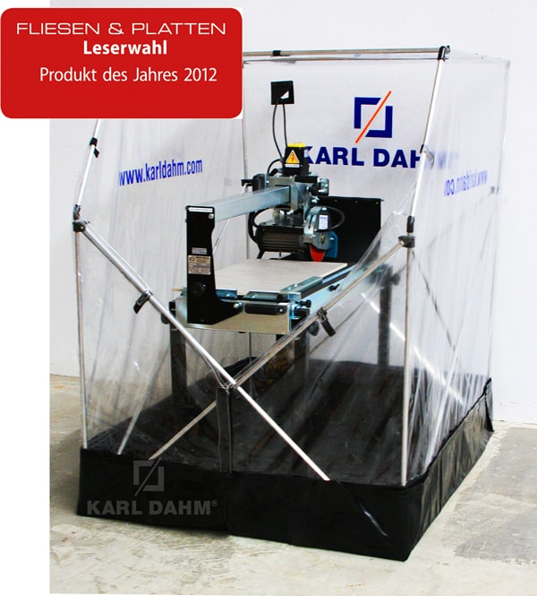 Produkt des Jahres 2012 - Die KARL DAHM Spritzschutzkabine