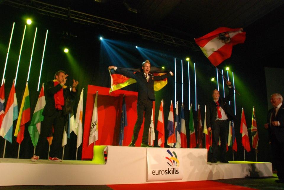 Björn Bohmfalk gewinnt Gold beid en EuroSkills 2012 in Belgien