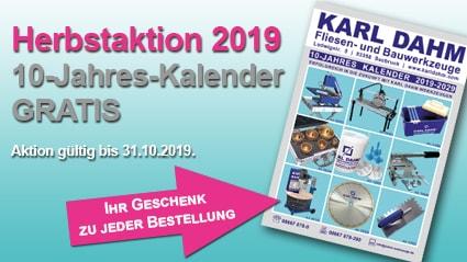 Jetzt den 10-Jahres Kalender von KARL DAHM Gratis zu Ihrer Bestellung sichern