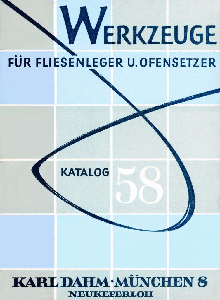 Der erste KARL DAHM Werkzeugkatalog wird 1958 verschickt
