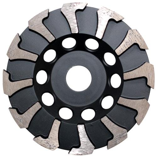 Diamantschleiftopf SCW, schwarz silber, 125 mm, für Beton und Estrich