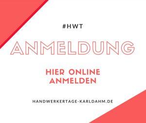 KARL DAHM Handwerkertage 2020 - Online Anmeldung
