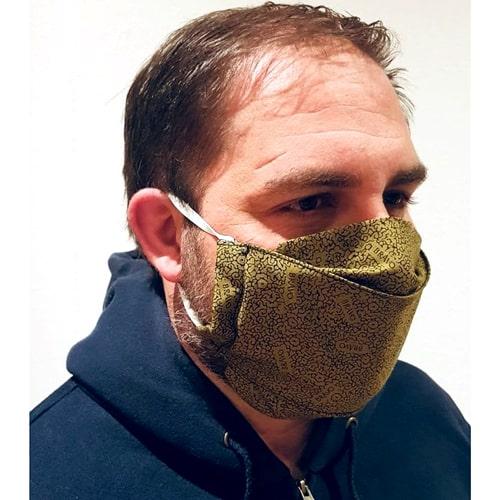 Mund-Nasen-Schutz handgenäht - Geschützt auf der Baustelle
