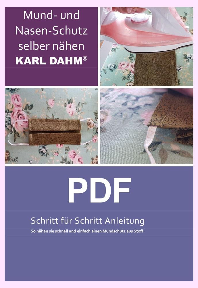 PDF-Nähanleitung Schutzmaske für Mund und Nase selbst nähen | KARL DAHM