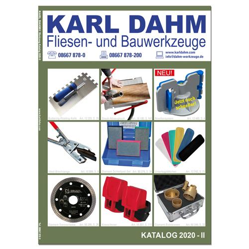 KARL DAHM Werkzeugkatalog 2020-II - Fliesenlegerwerkzeuge für Profis - jetzt gratis anfordern