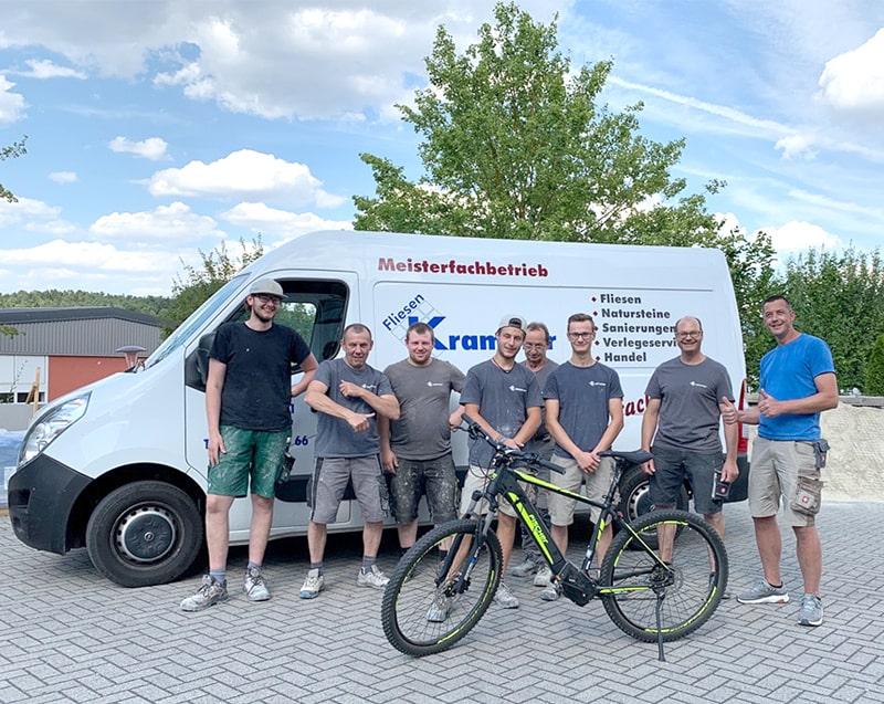 KARL DAHM Gewinnspiel Krammer Fliesen - E-Bike Juli 2020
