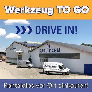 Corona: KARL DAHM Werkzeug to go - Drive in geöffnet, kontaktlos und sicher einkaufen