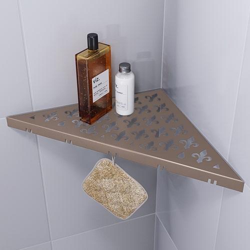 Duschablage im schönen Vintagedesing in beige. Schaffen Sie stilvoll Platz in Ihrer Dusche