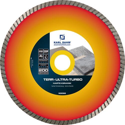 Perfekt für Terrassenplatten bis 2 cm Materialstärke. Die TerrUltra Turbo für die Steintrennmaschine