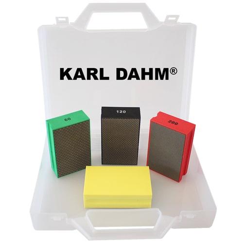Das beliebte Diamant-Handpads-Set ist um eine praktische Körnung vergrößert worden. Jetzt neu bei KARL DAHM